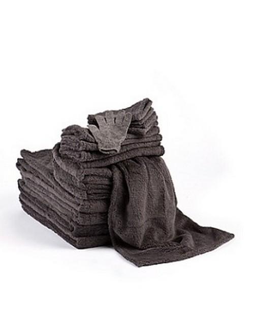 aa1893 handtuch set 16 teilig anthrazit ebay. Black Bedroom Furniture Sets. Home Design Ideas