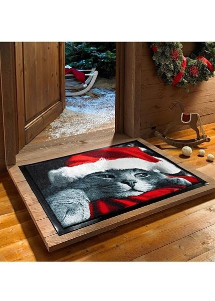 p208 c fu matte mit katzenmotiv rot 38x59cm 1 ebay. Black Bedroom Furniture Sets. Home Design Ideas
