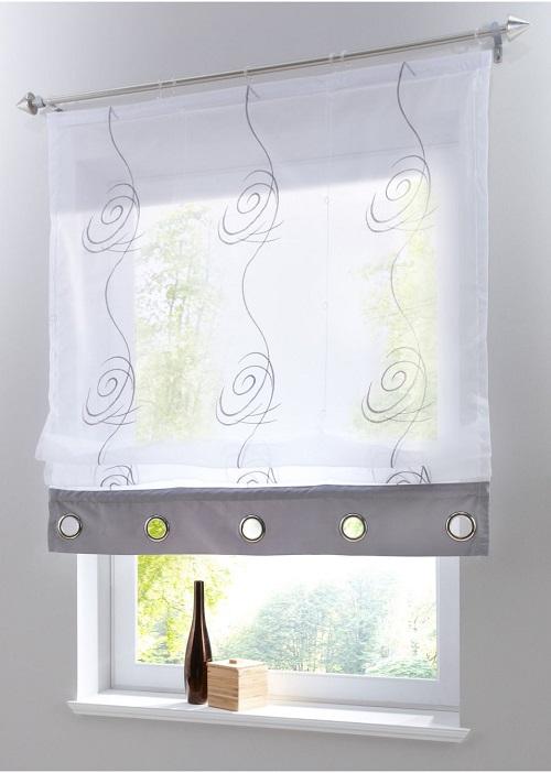 raffrollo paula 1er pack klettschiene silber. Black Bedroom Furniture Sets. Home Design Ideas